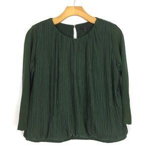 COS Green Micro Pleat Top